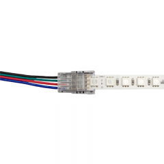 Connector between strip and cable - RGB LED strip - no soldering required