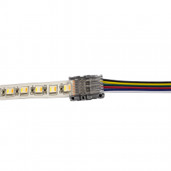 Connector between strip and cable - RGBWW LED strip - no soldering required